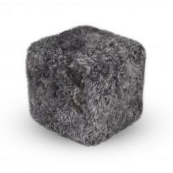 Pufa Cube Premium Skóra Owcza