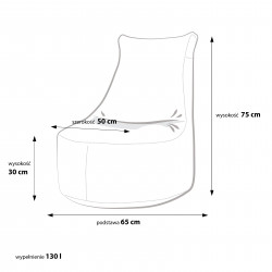 Fotel Seat S Modern Ekoskóra