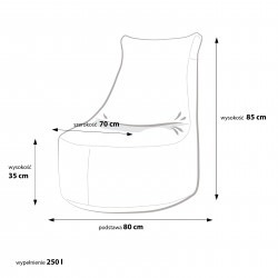 Fotel Seat L Modern Poliester